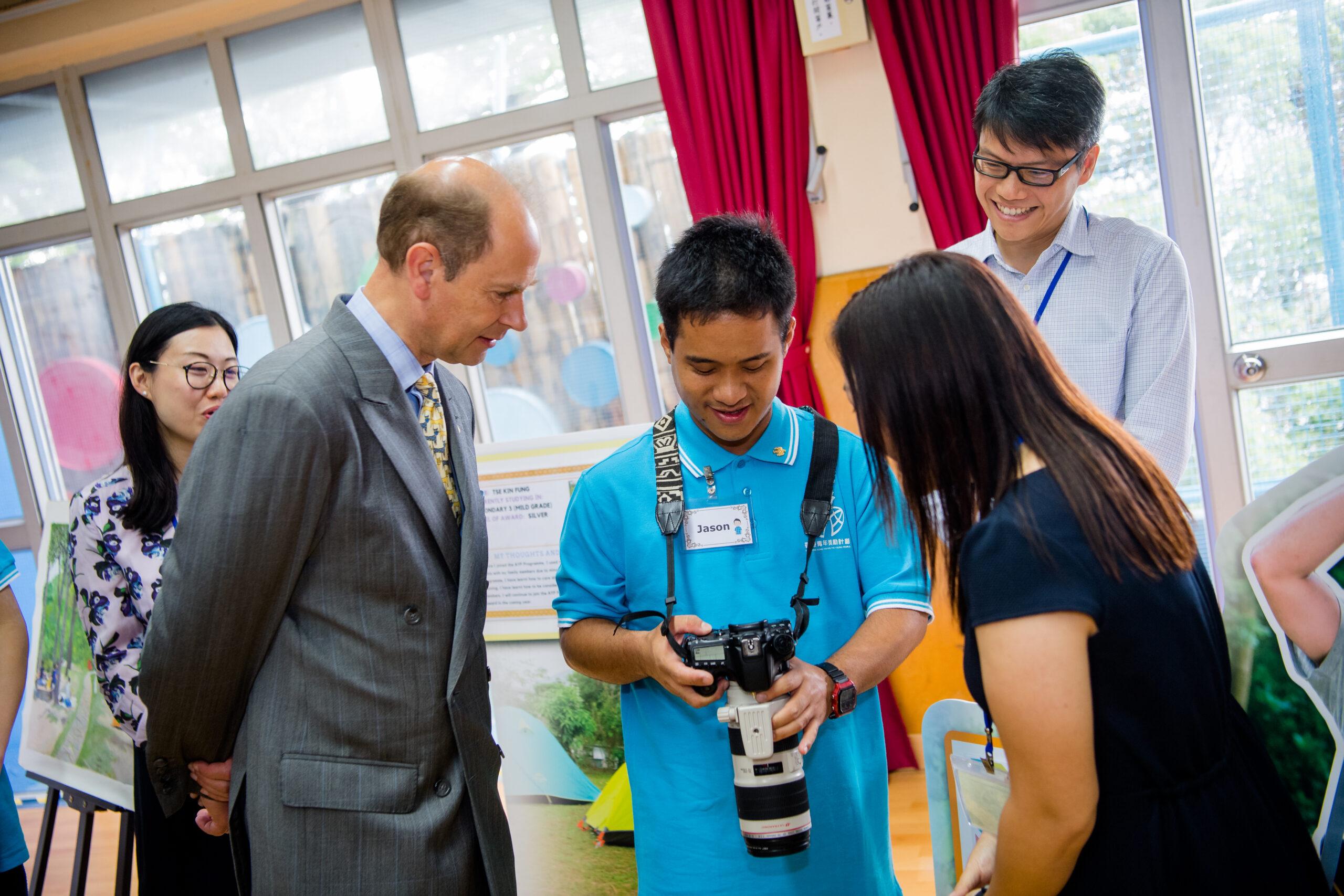 威塞克斯伯爵愛德華王子訪港 了解特殊需要青年學習環境 分享獎勵計劃得獎者蛻變成果